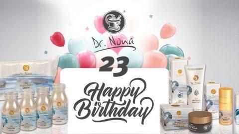 Дорогие друзья и партнеры компании Dr. Nona! Мы искренне рады поздравить вас и нас с 23 годовщиной компании Dr. Nona!